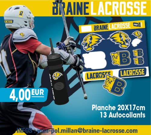 Braine Lacrosse merchandising stickers 2016 | © Braine Lacrosse Club ASBL