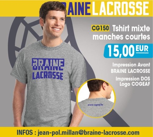 Braine Lacrosse merchandising t-shirts mixes 2016 | © Braine Lacrosse Club ASBL